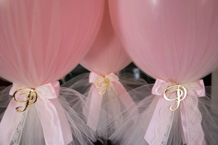 Vintage tulle centrepieces for a christening today with personalised acrylic cut outs Capture by @unicorn.fotography