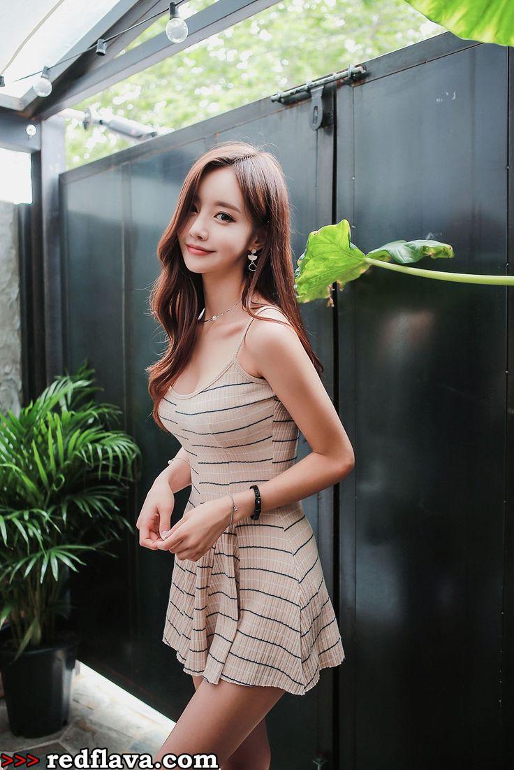 Pretty Korean babe Yoon Ju on Red Flava.