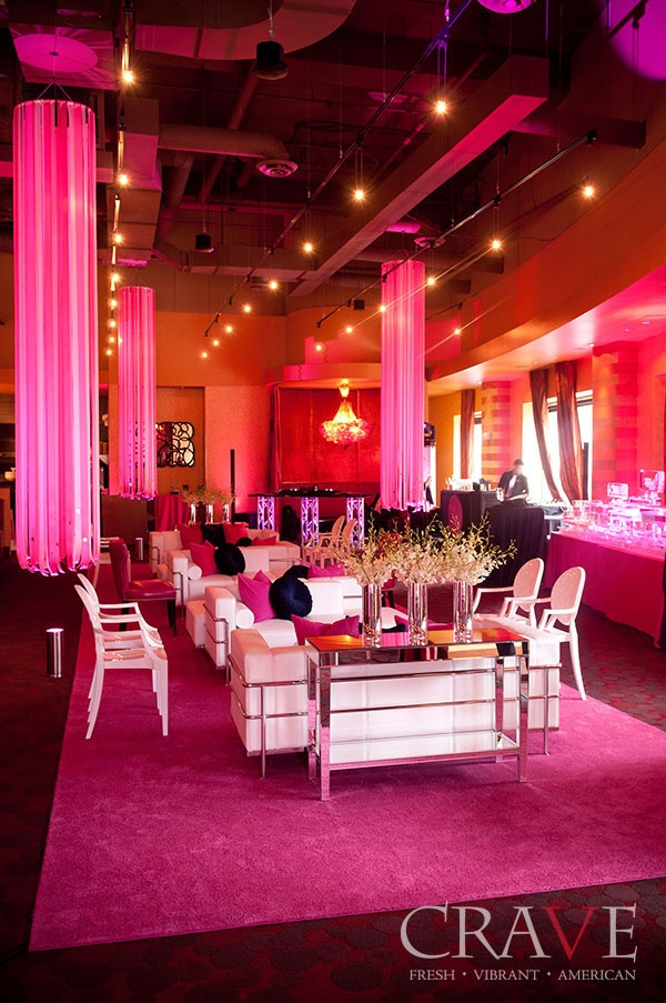 vip area at the pink carpet event at crave