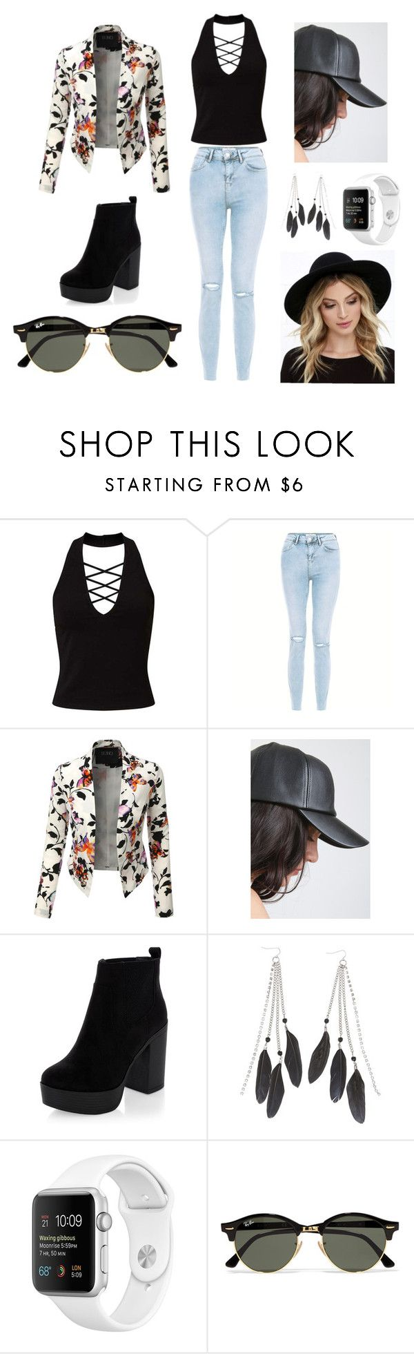 Best Freinds by jayjayjones2002 on Polyvore featuring Miss Selfridge, LE3NO, New Look, Charlotte Russe, RHYTHM and Ray-Ban