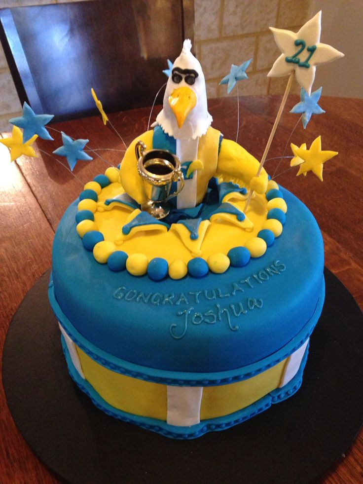 21st Cake West Coast Eagles My Cakes In 2019 21st