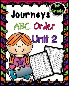 Journeys First Grade Reading Unit 2 ~ ABC Order Cut and Paste