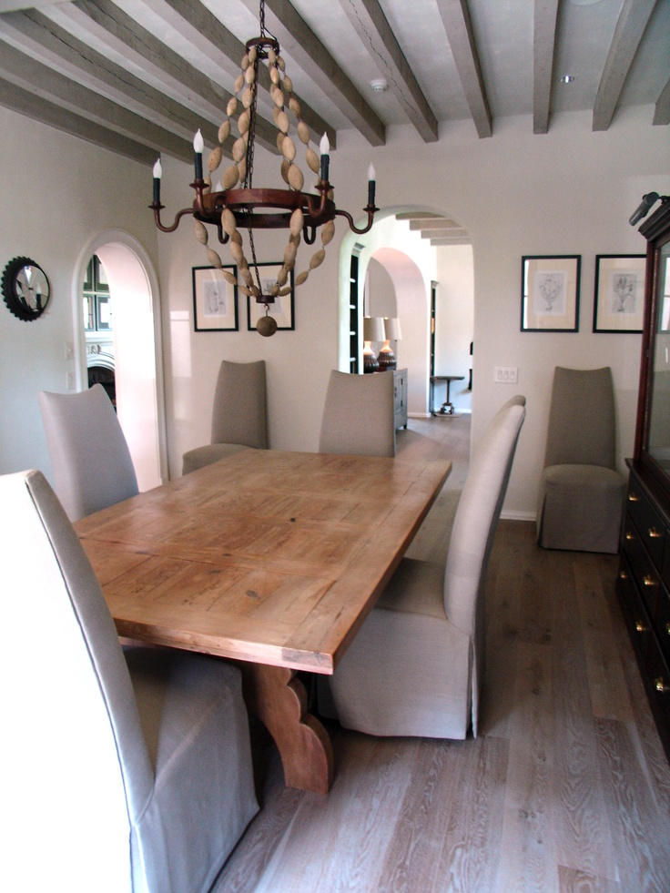 Lovely Interior Designer Beth Webb Uses ROMA Lime Wash On Floors And Beams.