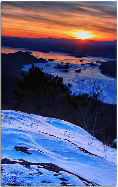 Sunset over Lake George from Black Mountain | Fire and Ice | Photo credit: the Waterfall Guy on Flickr