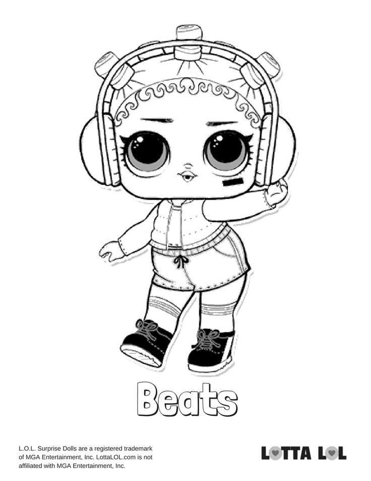 Beats Coloring Page Lotta LOL