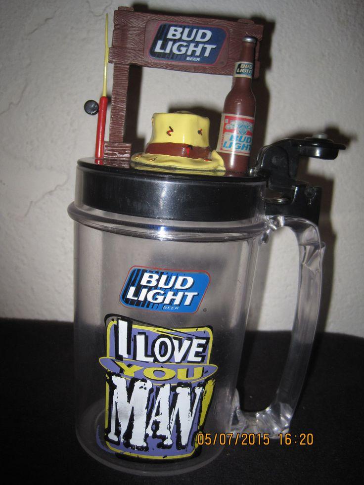 Bud Light Talking Plastic Beer Mug I Love You Man You're Not Getting My Bud Lite