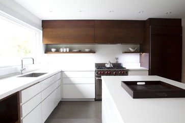 love layout  position of stove, enough space on right and lotsa space on left  open shelving + cabinets