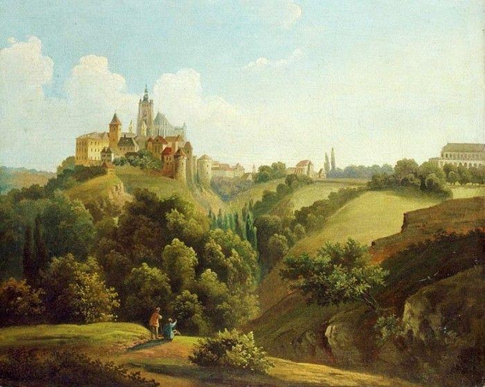 Antonín Mánes (1784-1843) Pohled na Pražský hrad od východu.
