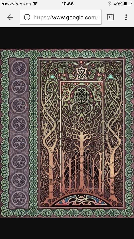 Owl greeting card set welsh artist jen delyth celtic art studio - Prayer Rug Tatting Tattoo Ideas