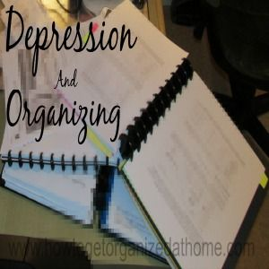 good practical advice for dealing with the challenges depression brings to handling everyday tasks.