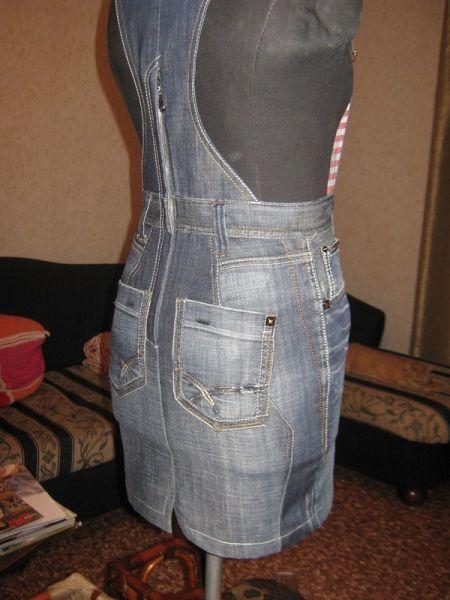 natka02: Сарафаны из джинсовых брюк