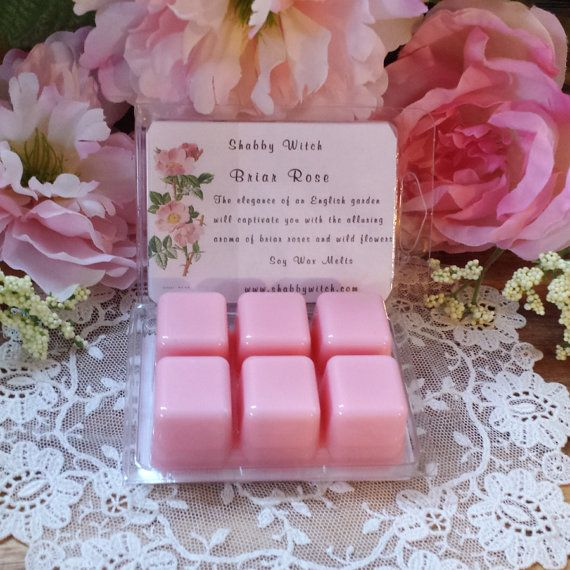 Briar Rose Soy Tarts Soy Tarts 6PK Clam Shell 1x1 Briar Rose The elegance of an English garden will captivate you with the alluring aroma of briar roses and wild flowers. Freshly made by Shabby Witch Do Not add water use in a tea light or electric tart warmer approved for wax