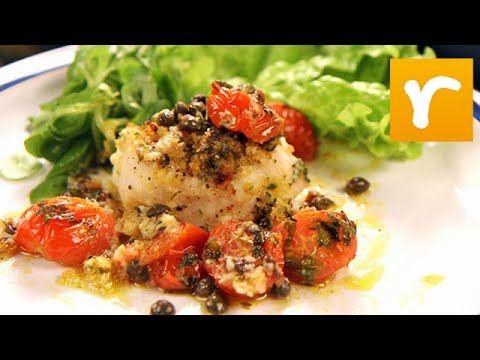 Gratinerad fiskfilé med tomat och färska kryddor (kock Paolo Roberto)