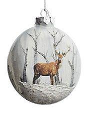 Painted Deer Disk Ornament