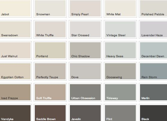 Find the perfect wall colour to match your floors with for Warm grey interior paint