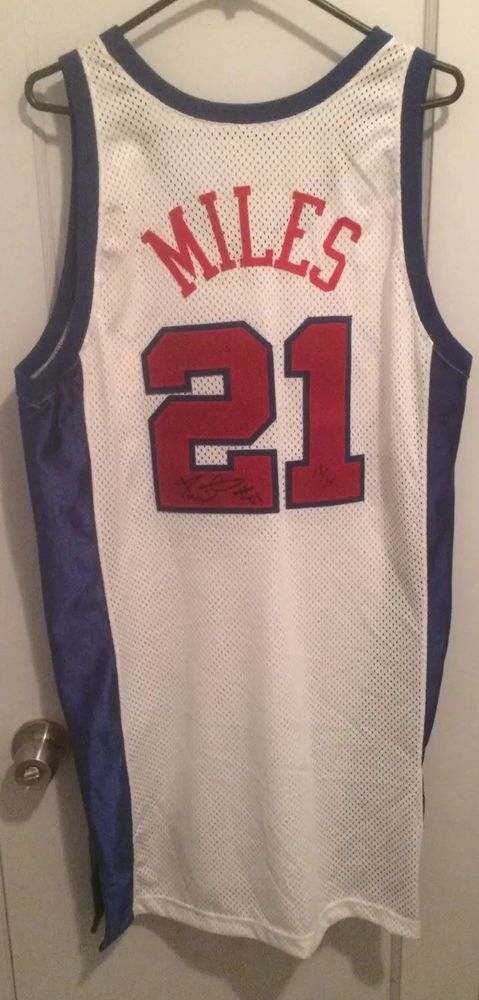 58353cffe61 eBay  Sponsored Darius Miles Los Angeles Clippers NBA Jersey 48 Champion  Game Worn Auto Signed