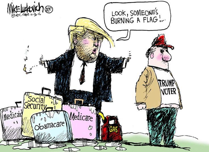 Mike Luckovich Editorial Cartoon, November 30, 2016     on GoComics.com