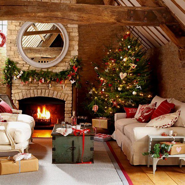 If you are going for a cozy Christmas decor, then this is probably what you are looking for. Go with the traditional Christmas ornaments and stand out by being creative where you hang the embellishments and how you hang them.