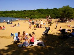 Ruislip Lido, a 60-acre lake with sandy beaches and a narrow gauge railway around it, is set on the edge of Ruislip woods.