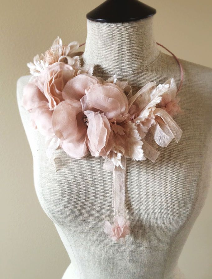 The One Of A Kind Levity Halo Is Comprised Of Blush Silk Flowers