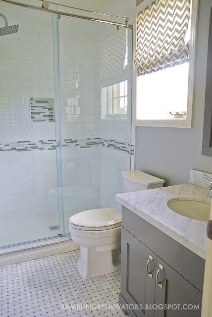rambling renovators marble basketweave tile large subway. Black Bedroom Furniture Sets. Home Design Ideas