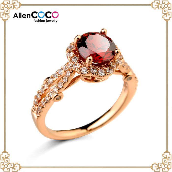 Китай ювелирные изделия поставщиков настроение кольцо с красным циркон кольцо для обручальное кольцо алмаз цена за карат