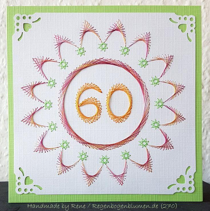 Blumen 47 als Karte zum 60. Geburtstag