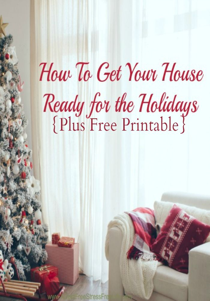 The deep clean checklist of what should be done before you pop that turkey in the oven or put up that Christmas Tree! Start now before the guests show up!