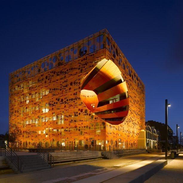 Le Cube Orange from Jacob & MacFarlane Architects.