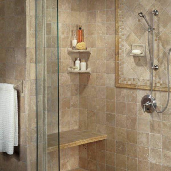 une touche chic et l gante dans votre cabine douche sols murs plafonds pinterest. Black Bedroom Furniture Sets. Home Design Ideas