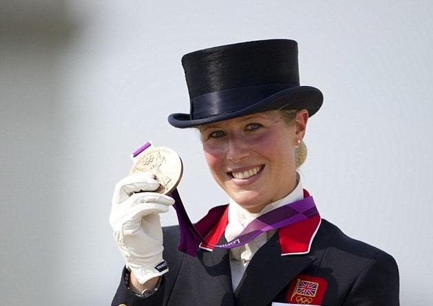 Equestrian Individual Dressage:  Team GB's 2012 50th Olympic medal was a Bronze won by: Laura Bechtolsheimer on Thursday 9th August 2012 with a score of 84.339 at Greenwich Park, SE10. Horse name; Mistral Hojris.