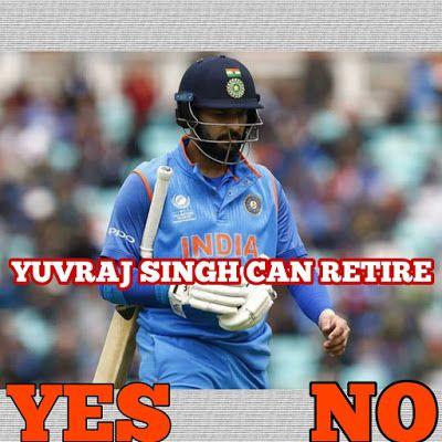 BLUE CRICKET TEAM: did you think yuvraj singh can retire from cricket...