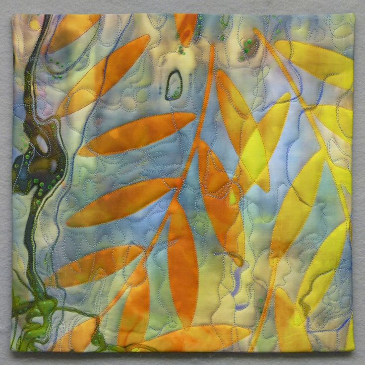 Diane Doran's Contribution: Leaves/Reflections 1, 11.5x11.25