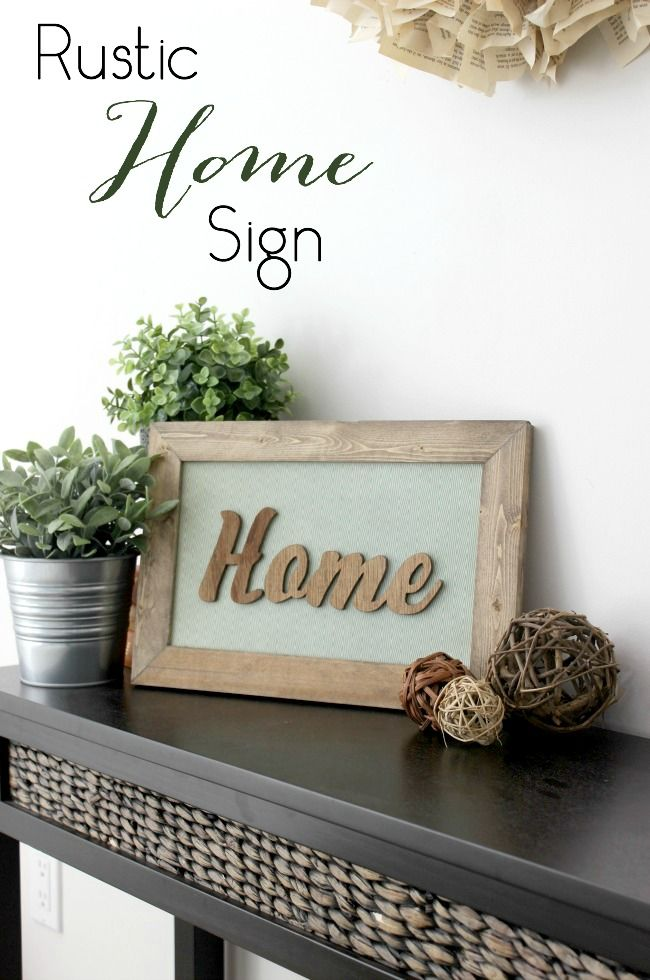 This DIY Wood Sign is the perfect piece of home decor for any room! Great tutorial!