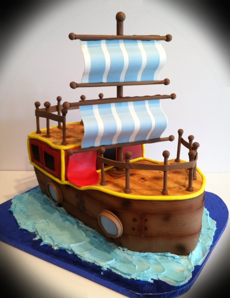 Cake Designs Pirate Ship : 25+ best ideas about Pirate Boat Cake on Pinterest Boat ...
