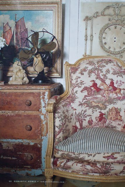 Toile chair Found, now home: Inspiration Notebook