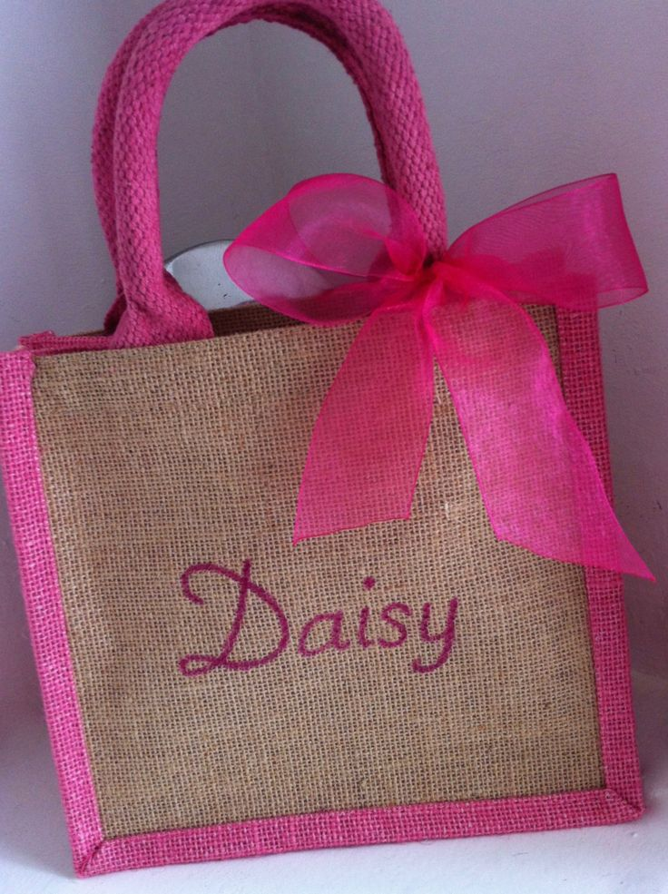 23 best harlie loves jute tote bags images on pinterest personalised birthday gift bag thank you princess party favour lunch bag name negle Choice Image