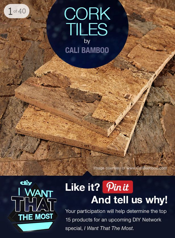 Help us pick the top products for DIYNetwork's I Want That the Most >> http://www.diynetwork.com/tv-shows/40-top-products-from-i-want-that-season-three/pictures/index.html?soc=pinterest: That Diy'S Network, Diy'S Corks Tile, Design Homegood, Corks Design, Tops Products, Corks Floors, Soft Step Help, Basements Projects, Paintings Tiles 3D Wall