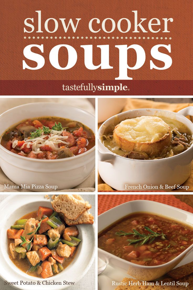 Perfect for fall and winter days, a variety of hearty and delicious soup and stew recipes, all made in your slow cooker!