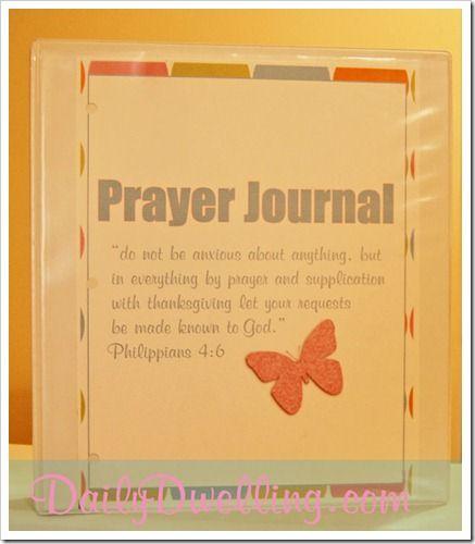 Free printable prayer journal inserts.