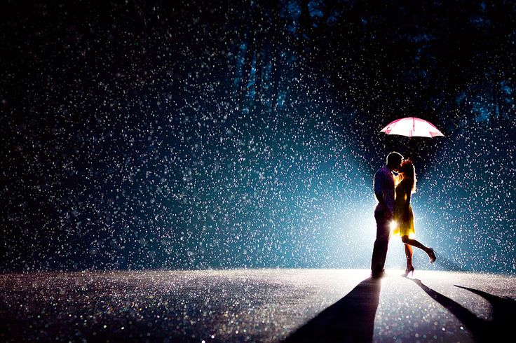 Hoffer Photography | Amy & Tony Hoffer. Phenomenal night rain shot with perfect posing and use of off camera flash. The posing in images like this usually looks stiff and not  believable, but this one is an exception. Not an easy shot to have nailed on any level, let alone at night, in the rain, and from a distance that may have been out of the earshot for giving specific needed posing direction.