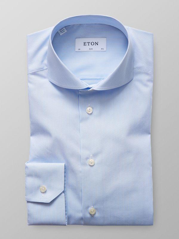 Blue & White Fine Striped Shirt