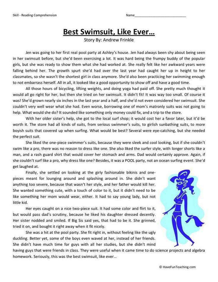 6th grade reading woorksheet Reading comprehension