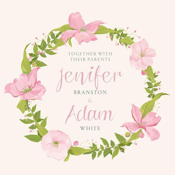 59 best floral wedding website, wedding invitation cards in rose ...