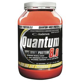 QUANTUM 8.0 DOUBLE CHOCOLATE 800g  Protein supplement of rapid assimilation with a high aminoacid content. Its protein fraction is entirely composed from serum proteins of the milk ultra filtered. Quantum 8.0 is an hyperprotein of new generation, with a high biological value, able to satisfy also the demands of professional sportmen in phase of definition and muscular increase. It contains over the 80% of proteins derived from the serum of the milk and gotten through the sophisticated…