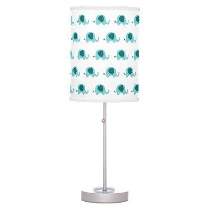 Teal Blue Elephant Table Lamp - blue gifts style giftidea diy cyo