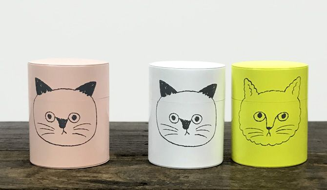遊び心あふれるデザインの おしゃれな猫のコーヒー缶 おしゃれな雑貨 デザイン パッケージデザイン