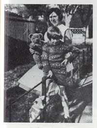 Christopher Robin Milne with his mother and his Farnell Teddy Bear - Pooh.