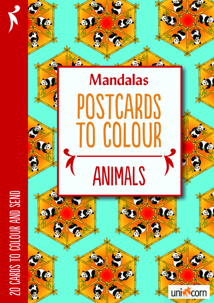 Mandalas malebog Postcards to Colour Animals