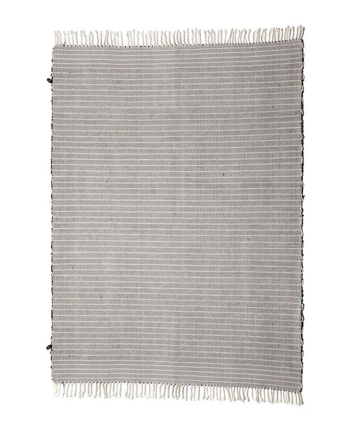 Francisco Black Stripe rug. | http://www.huntingforgeorge.com